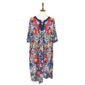 Liz Claiborne Plus Size Floral Print Dress